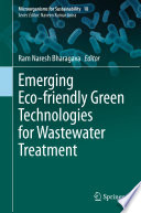 Emerging Eco friendly Green Technologies for Wastewater Treatment Book