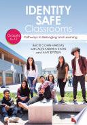 Identity Safe Classrooms  Grades 6 12 Book
