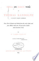 Poetical and Dramatic Works of Thomas Randolph