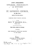 Pdf A Guide to St. Saviour's Church (St. Marie Overie), Southwark