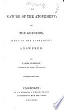 The Nature of the Atonement     Fourth Thousand Book