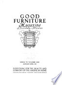 Good Furniture Magazine of Furnishing & Decoration