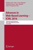 Advances in Web Based Learning     ICWL 2016