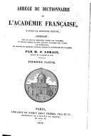 Abrégé du dictionnaire de l'Académie française