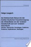 Der Matriarchats-Diskurs (in) der zweiten deutschen Frauenbewegung