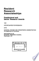 Resident Research Associateships, Postdoctoral and Senior Research Awards