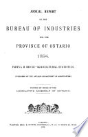 Annual Report of the Department of Agriculture and Food Book