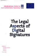The Legal Aspects of Digital Signatures