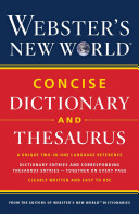 Webster S New World Concise Dictionary And Thesaurus