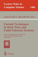Formal Techniques in Real Time and Fault Tolerant Systems