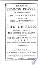 The Book of Common Prayer     with the Psalter  Etc