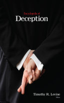Pdf Encyclopedia of Deception Telecharger