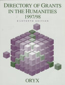 Directory of Grants in the Humanities 1997 98 Book PDF