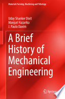 A Brief History Of Mechanical Engineering Book PDF