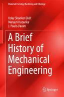 A Brief History of Mechanical Engineering Pdf/ePub eBook