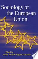 Sociology Of The European Union