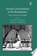 Textual Conversations In The Renaissance