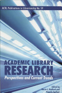 Academic Library Research Book