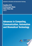 Advances in Computing  Communication  Automation and Biomedical Technology
