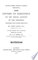 Letters to Radulphus on the Mosaic account of creation Book PDF