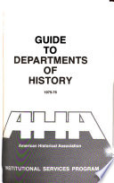 Guide to Departments of History