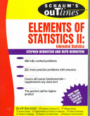 Schaum S Outline Of Elements Of Statistics Ii Inferential Statistics Book PDF