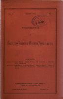 Proceedings of the Engineers  Society of Western Pennsylvania