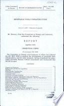 Renewable Fuels Infrastructure  August 3  2007  110 1 House Report 110 306  Part 1