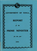 Report of the Prime Minister for the Year     Book