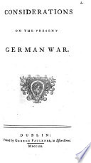 Considerations on the Present German War Book