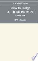 """How to Judge a Horoscope"" by Bangalore V. Raman"