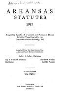 Arkansas Statutes 1947