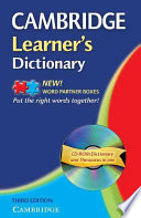 Read Online Cambridge Learner's Dictionary with CD-ROM For Free