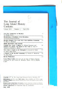The Journal of Long Island History