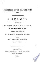 The miracle of the deaf and dumb man  a sermon