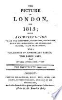 The picture of London  for 1802 Book