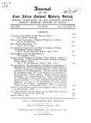 Journal Of The East Africa Natural History Society And National Museum