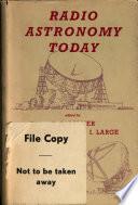 Radio Astronomy Today