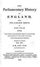 Cobbett's Parliamentary History of England: 1747-1753 ebook