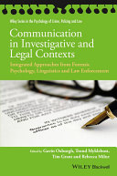 Communication in Investigative and Legal Contexts