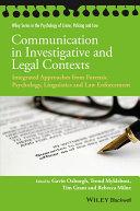 Communication in Investigative and Legal Contexts Pdf/ePub eBook