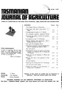 The Tasmanian Journal of Agriculture