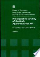 Pre-legislative Scrutiny of the Draft Apprenticeships Bill