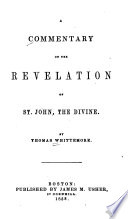 A Commentary on the Revelation of St  John  the Divine