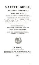 Sainte Bible en latin et en français