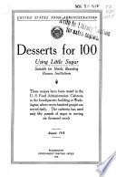 Desserts for 100 Using Little Sugar