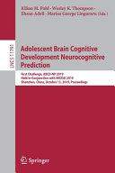 Adolescent Brain Cognitive Development Neurocognitive Prediction Book
