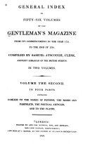 General Index to Fifty-six Volumes of the Gentleman's Magazine: Indexes to the names of persons, the books and pamphlets, the poetical articles, and to the plates