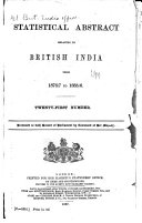 East India (Statistical Abstract).