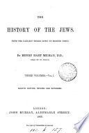 The History Of The Jews By H H Milman  Book PDF